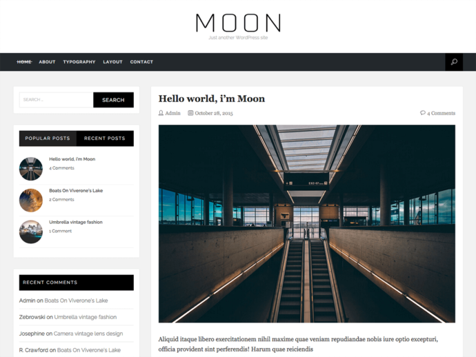 Moon WordPress Theme