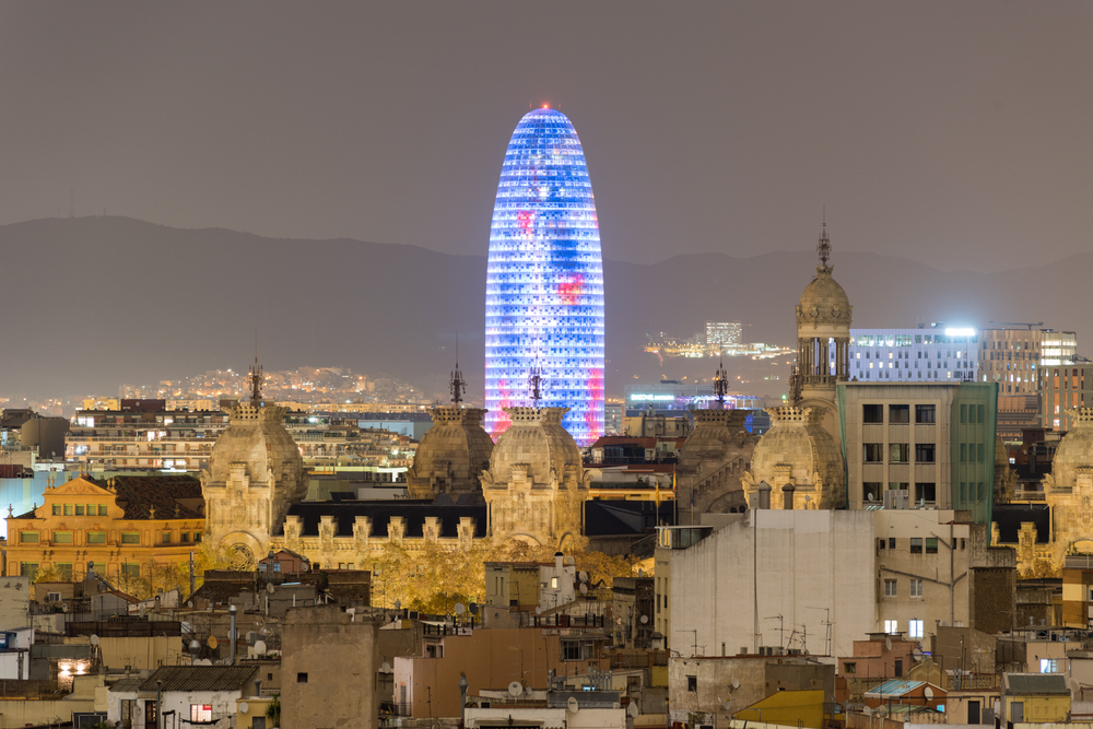 Torre Agbar w Barcelonie