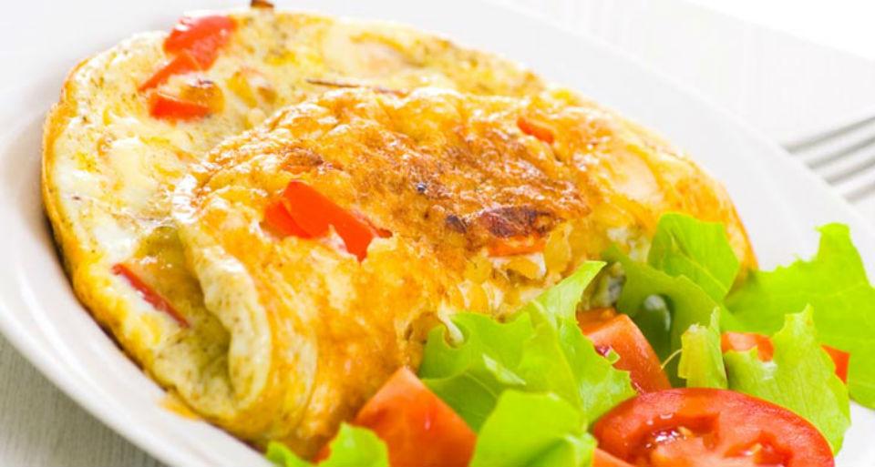 Wiosenny omlet warzywny